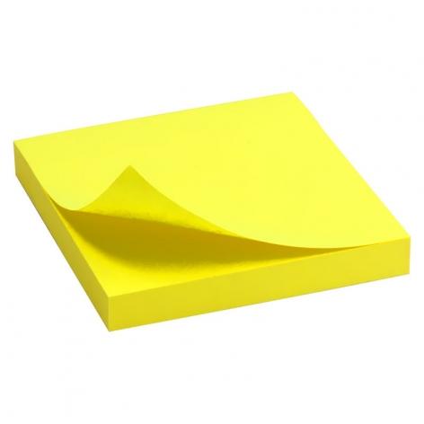 Блок бумаги с липким слоем 75x75 мм, 100 листов Delta by Axent  D3414-11 ярко-желтый