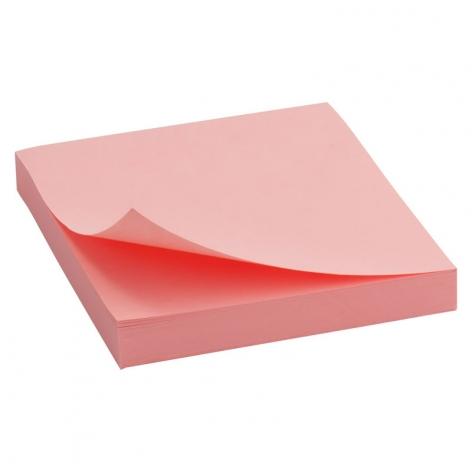 Блок бумаги с липким слоем 75x75 мм, 100 листов  Delta by Axent D3314-03 пастельный розовый