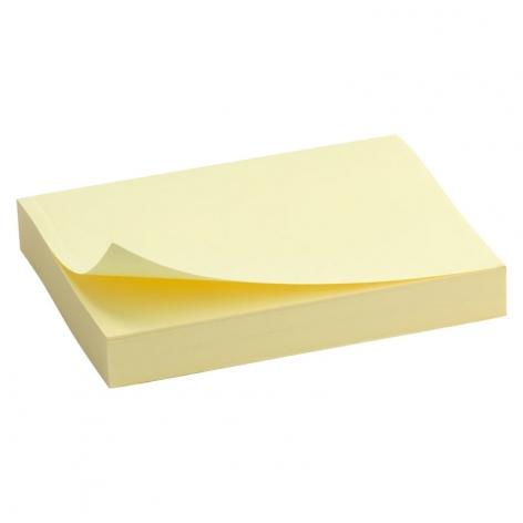 Блок бумаги с липким слоем 50x75 мм, 100 листов Delta by Axent D3312-01 пастельный желтый