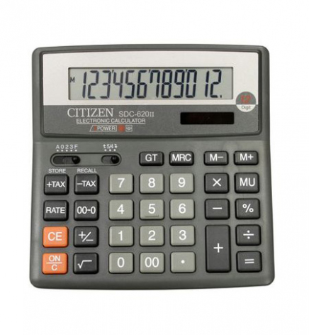Калькулятор 12р. Citizen SDC-620