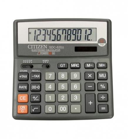 Калькулятор 12р. Citizen SDC-620