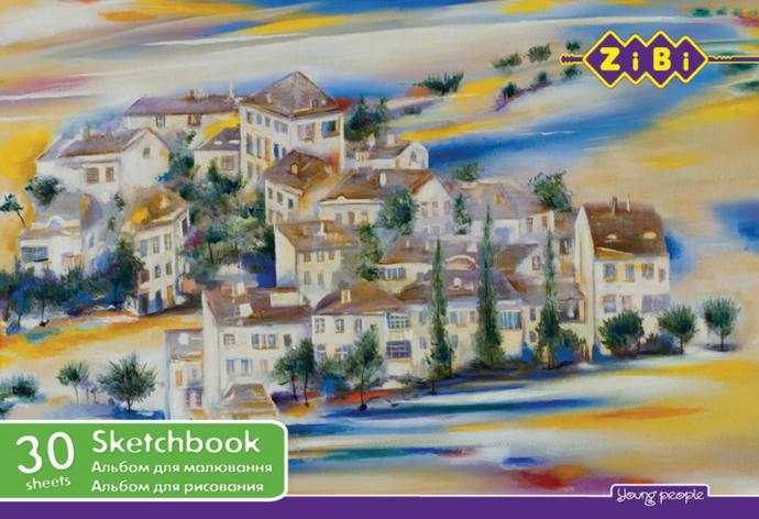 Альбом для рисования 30 листов А4 на пружине ZiBi 1441-2