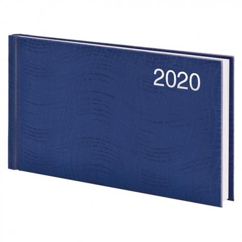 Еженедельник карманный датированный BRUNNEN 2020 Wave, синий, артикул 73-755 76 30 код 43229