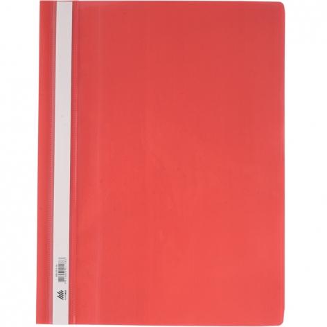 Папка скоросшиватель А4 пластиковая с прозрачным верхом Buromax BM.3311-05 красный