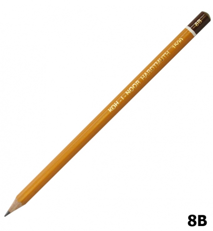 Карандаш графитный, мягкий 8B, Koh-I-Noor 1500.8B
