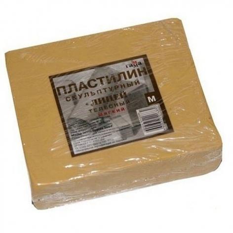 Пластилин скульптурный мягкий 0,5 кг, телесный  Гамма (Россия) 2.80.Е050.002