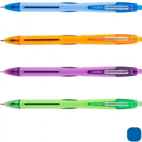 Ручка масляная Aerogrip-2 0,7 мм Unimax UX-137-02 синий
