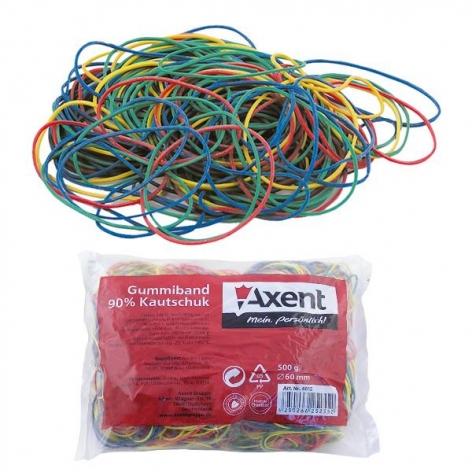 Резинки для денег 200 г натуральные цветные AXENT 4611-a