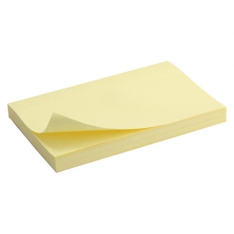 Блок бумаги с липким слоем 75x125 мм, 100 листов Delta by Axent D3316-01 пастельный желтый