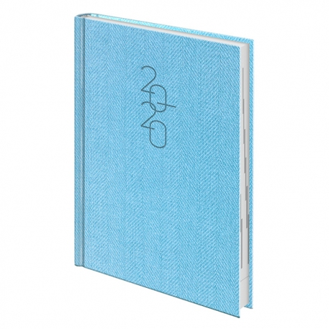 Ежедневник датированный BRUNNEN 2020 Стандарт Tweed голубой 73-795 32 33