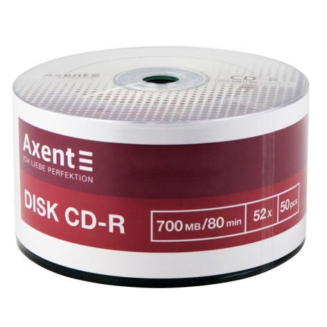 CD-R 700MB/80min 52X, 50 шт, bulk, Axent 8102-А