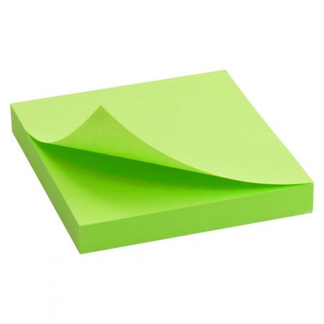 Блок бумаги с липким слоем 75x75 мм, 100 листов Delta by Axent  D3414-12 ярко-зеленый