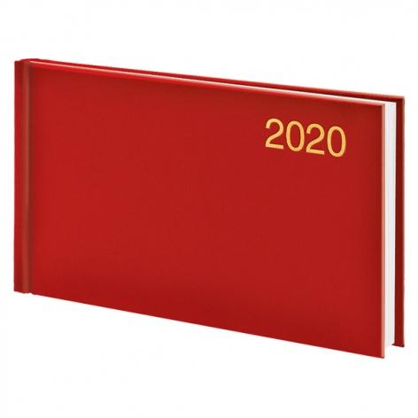 Еженедельник карманный датированный BRUNNEN 2020 Miradur, красный, артикул 73-755 60 20 код 43046