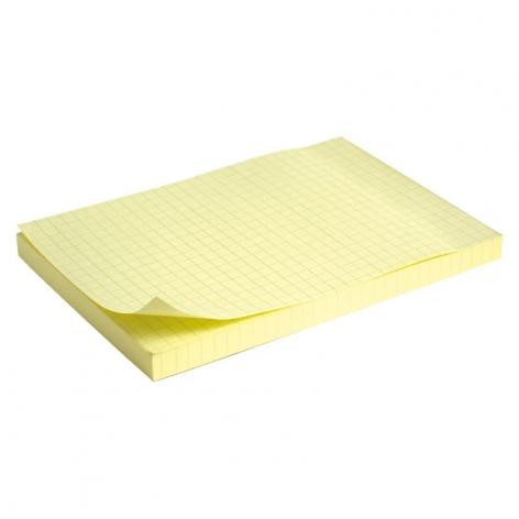 Блок бумаги с липким слоем 100x150 мм, 100 листов в клетку Delta by Axent D3330-02 пастельный желтый