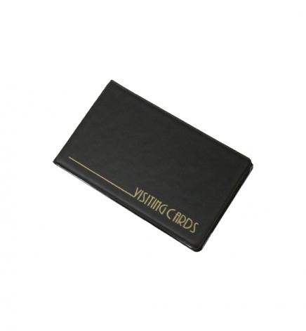 Визитница на 24 визитки, PVC (115 мм х 70 мм) Panta Plast 0304-0001-01 черный
