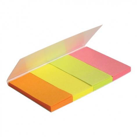 Закладки бумажные (4 по 40 л.) 20 х 50 мм AXENT 2445-01-A