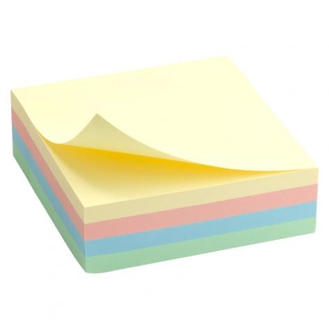 Блок бумаги с липким слоем 75x75 мм, 250 листов, пастельные цвета Delta by Axent  D3350
