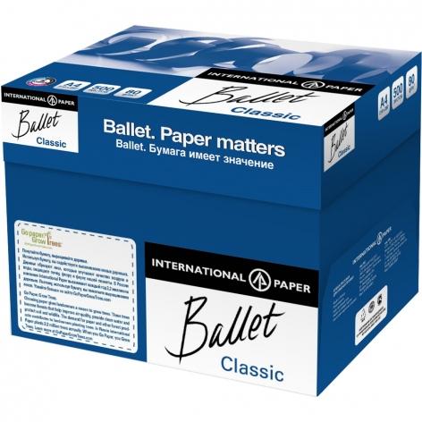 Бумага BALLET CLASSIC А4 80г/м2, 500л  цена за ящик 5 пачек