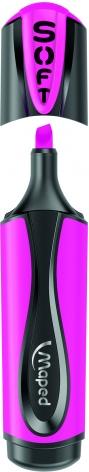 Маркер текстовый FLUO PEPS Ultra Soft 1-5 мм клиновидный наконечник MAPED МР.746036 розовый