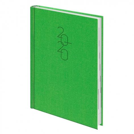 Ежедневник датированный BRUNNEN 2020 Стандарт Tweed светло-зеленый 73-795 32 54