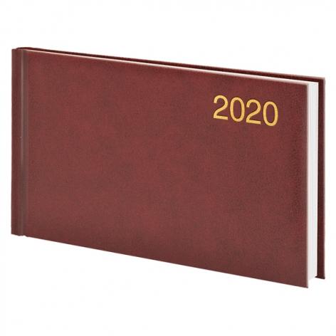 Еженедельник карманный датированный BRUNNEN 2020 Miradur, бордовый, артикул 73-755 60 29 код 43044