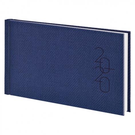 Еженедельник карманный датированный BRUNNEN 2020 Tweed синий, артикул 73-755 32 30 код 43222