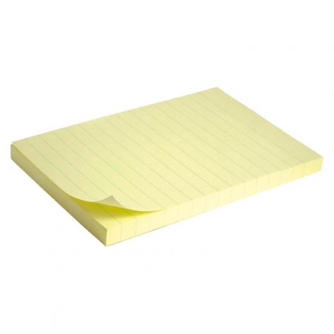 Блок бумаги с липким слоем 100x150 мм, 100 листов в линию Delta by Axent D3330-01 пастельный желтый
