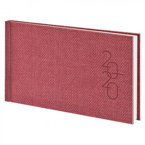 Еженедельник карманный датированный BRUNNEN 2020 Tweed красный, артикул 73-755 32 20 код 43223