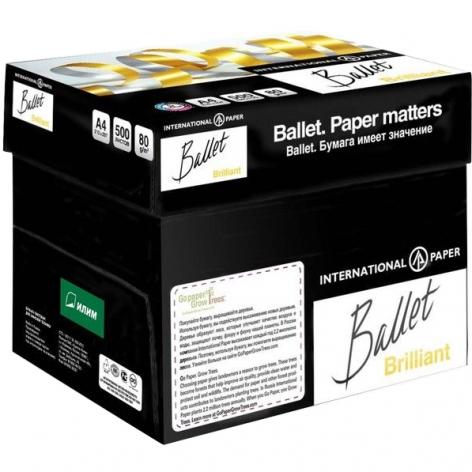Бумага BALLET BRILLIANT А4 80г/м2, 500л  цена за ящик 5 пачек