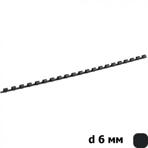 Пружина пластиковая d 6 мм 100 штук в упаковке Axent 2906-01-A черный