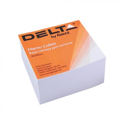 Блок бумаги для заметок 90х90х30мм, Delta by Axent D8003 не склеенный белый
