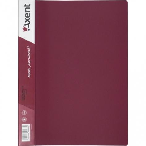 Дисплей-книга на 30 файлов, AXENT 1030-04-А бордовый