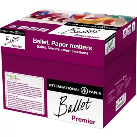 Бумага BALLET PREMIER А4 80г/м2, 500л  цена за ящик 5 пачек