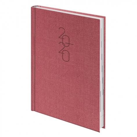 Ежедневник датированный BRUNNEN 2020 Стандарт Tweed красный, артикул 73-795 32 20 код 43162