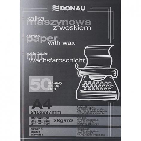 Бумага копировальная черная А4, 50 листов, DONAU 1922950PL-01