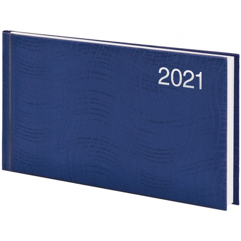 Еженедельник датированный BRUNNEN 2021 Wave карманный, синий 73-755 76 301
