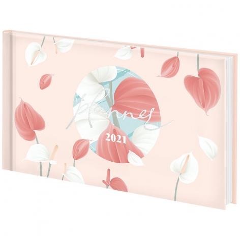 Еженедельник датированный BRUNNEN 2021 Графо карманный Pastel flowers 73-755 68 041
