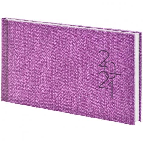 Еженедельник датированный BRUNNEN 2021 Tweed карманный фиолетовый 73-755 32 661