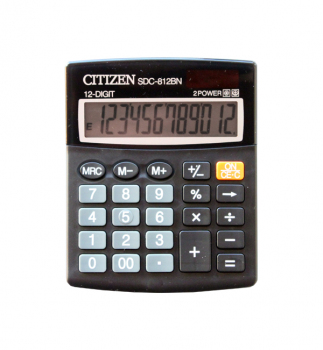 Калькулятор 12р. Citizen SDC-812BN
