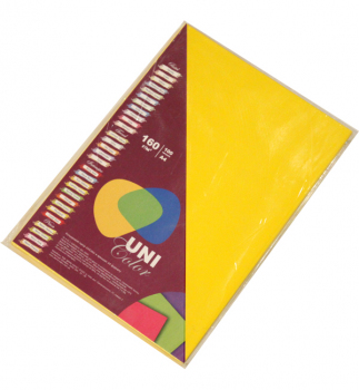 Бумага Uni Color Intensive A4 160 г/м2, 100 л Mustard (горчичный) 151241