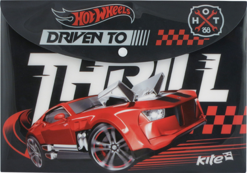 Папка на кнопке А4 Hot Wheels KITE HW15-200K