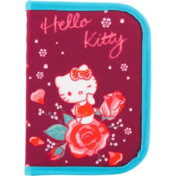 Пенал без наполнения на одно отделение с одним отворотом Kite Hello Kitty HK18-621-2 код 38087