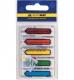 Закладки пластиковые NEON (5 х 20 л.) 45 х 12 мм Buromax BM.2304-98