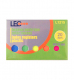 Пластиковые индекс регистры 5 цветов х 20 л. размером 44 мм х 12 мм LEO L1215 (170146)